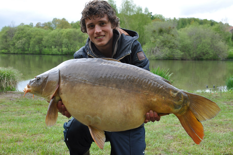 Mirror carp photo gallery Etang de Azat-Chatenet fishing lake in France